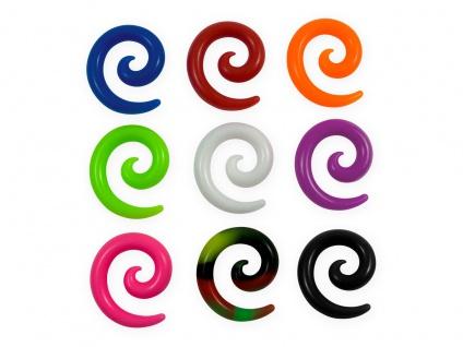Silikon Dehnschnecke Dehnungsspirale Dehnsichel Spirale Expander Taper 4-12 mm