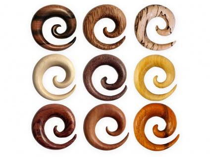 Dehnspiralen Holz Dehnungssichel Plug Tunnel Ohr Piercing Spirale Dehnschnecke