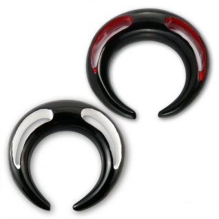 Horn Expander Klaue spirale piercing ohr plug flesh tunnel taper ohrringe sichel