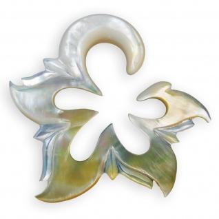 Perlmutt Flower Expander spirale sichel ohr piercing horn holz plug tunnel blume