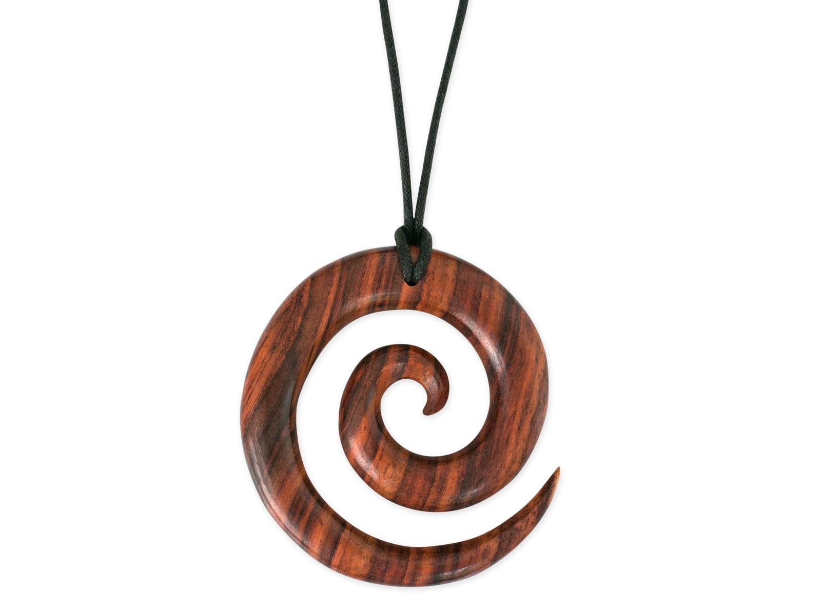 Maori Anhänger Sono Holz in 925 Silber