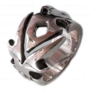 Massiver 925er Silber Maori Tribal Band Ring herren damen biker surfer designer