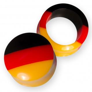 Ohr Plug Flesh Tunnel Acryl Fußball WM Deutschland Fanartikel Schmuck (4-30mm)