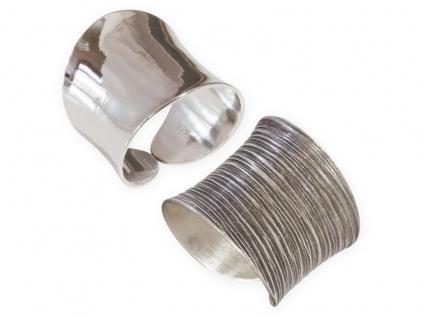 Damenring Silber 925 breit Bandring 925 Fingerring Statement verstellbar offen