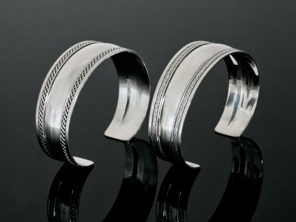 925 Silber Amreif Armspange Armschmuck Damen Herren Kelten Wikinger breit offen