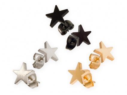 Edelstahl Ohrstecker Sterne Star Ohrringe klein Stern Stecker Schmuck silber