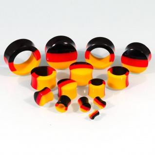 Ohr Plug Flesh Tunnel Acryl Fußball WM Deutschland Fanartikel Schmuck (4-30mm) - Vorschau 4