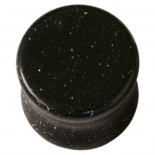 Ohr Plug Flesh Tunnel Galaxy Stein Blaufluss Glas blau glitzernd 5-25 mm