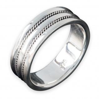 Bandring 925 Silber Herren Damen Ring Silberring Flechtmuster Kelten Schmuck
