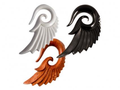 Engel Flügel Expander Horn Holz Dehnspirale Dehnungssichel Dehnungsspirale braun