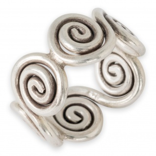 Ring 925 Silber Spiralen Damenring Karen Hill Tribe Antik Schmuck Keltisch