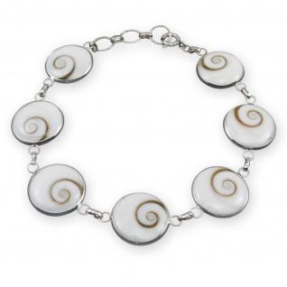 925 Silber Armband Shiva Auge armkette muschel schmuck armreif silberarmband