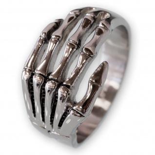 Silberring Knochenhand silber ring gothic skelett hand totenhand massiv bones