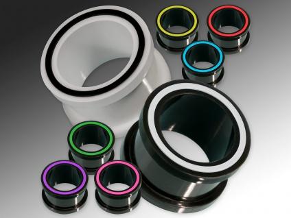 Silikon Flesh Tunnel Ohr Plug flexibel weich Piercing Plugs 1 Stück 4-22 mm