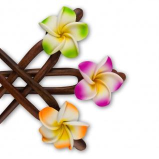 Hibiskus Frangipani Haarnadel hairpin holz rockabilly haarschmuck hawaii tiki 50