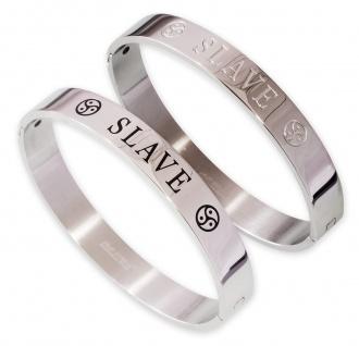 Armreif Ring der O BDSM Motiv Armband Damen Herren Edelstahl 6 Modelle brst032 - Vorschau 5