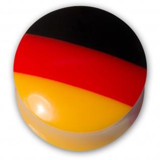 Ohr Plug Flesh Tunnel Acryl Fußball WM Deutschland Fanartikel Schmuck (4-30mm) - Vorschau 2
