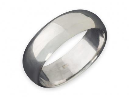 Band Ring 925 Silber Damen Herren Freundschaftsring Partnerring breit Daumenring - Vorschau 5