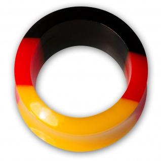Ohr Plug Flesh Tunnel Acryl Fußball WM Deutschland Fanartikel Schmuck (4-30mm) - Vorschau 3
