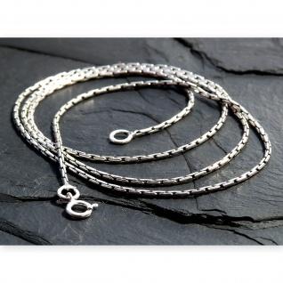 925 Silber Halskette Damen filigrane Schlangenkette für Anhänger Kette 1mm