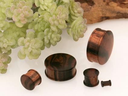 Top Hat Plug Holz Ohr Plugs Flesh Tunnel Piercing Schmuck 4-30mm braun schwarz