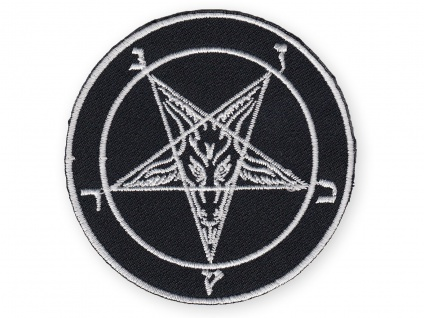 Aufnäher Baphomet Pentagramm black metal satan luzifer 666 lavey pagan WGT patch