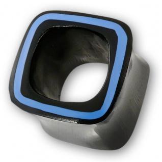 Viereck Horn Flesh Tunnel plug ohr piercing taper knochen bone organic square