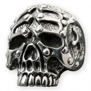 Gladiator Silber Skull Ring herren biker harley gothic outlaw rocker totenkopf