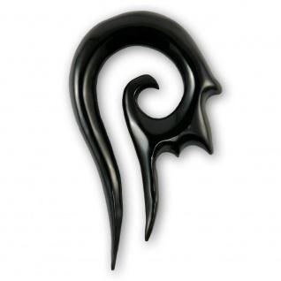 Horn Piercing Sichel spirale expander ear flesh tunnel stretcher taper plug holz