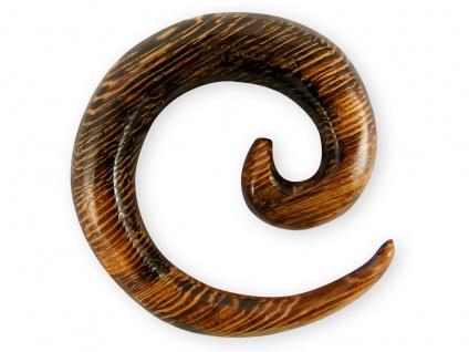 Dehnspirale Parasit Holz Schnecke Dehnungssichel Piercing Expander Taper Schmuck