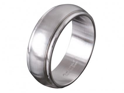 Edelstahl Finger-Ring Bandring Spinning Drehring Partnerring Freundschaftsring