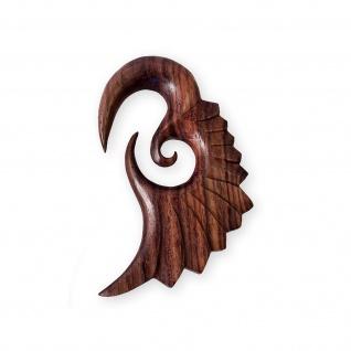 Holz Expander Flügel Ohrhänger Piercing Dehnungssichel 6 - 12 mm