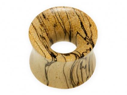 Flesh Tunnel Holz Ohr Plug konkav Piercing Schmuck 4-30 mm