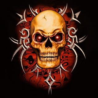 T-Shirt Tribal Totenkopf Gr. M Glow In The Dark neon metal biker herren V8 skull