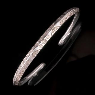 Echt 925 Silber Armreif Armspange Wikinger Kelten Damen Schmuck Armband offen