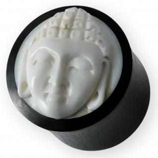 Buddha Horn Flesh Plug ohr piercing schmuck knochen organic bone ear tunnel tube