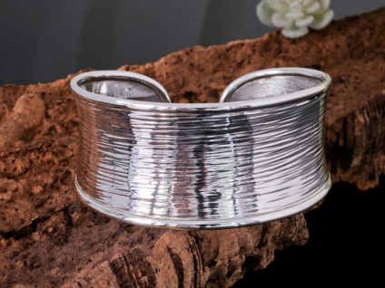 925 Silber Armreif Karen Hill Tribe Armspange Damen Schmuck Armband offen breit