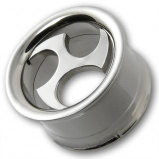 Triskele Stahl Flesh Tunnel ohr plug horn piercing tube earlet schmuck silber