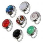 Damen Finger-Ring Stein Silber 925 (7 Steintypen) risi068
