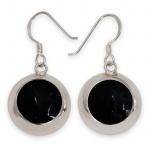 Damen Ohrringe Onyx Optik Ohrhänger Stein Silber 925 earsi052_schwarz