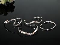 925 Silber Armreif Armspange Damen Herz Spirale schmal klassisch offen 4 Modelle