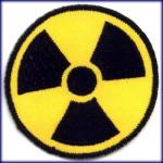 Aufnäher Radioaktiv symbol strahlung x-ray radioactive a-bomb patch aufbügler
