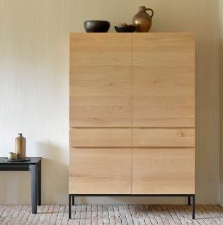Ethnicraft Oak Ligna Black Cupboard - Hochschrank