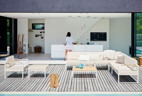 Jan Kurtz Lux Lounge Weiß - Gartenlounge