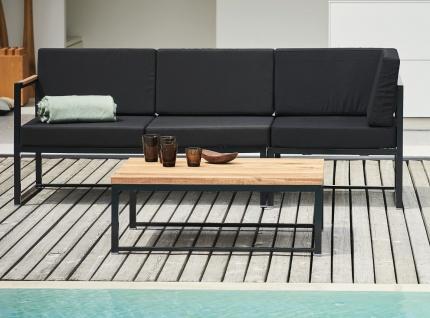 Jan Kurtz Lux Lounge Schwarz - Gartenlounge
