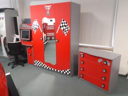 Kinder Mobel Set Racer Kleiderschank Schreibtisch Kommode Kaufen