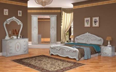 Schlafzimmer Florenz beige creme Bett 160x200 cm italienisch ...