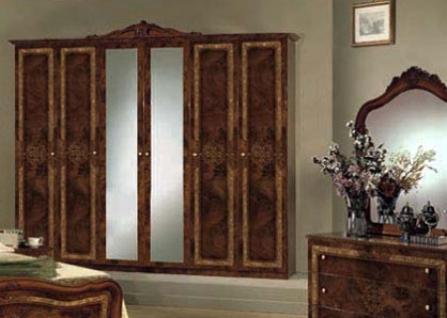 Kleiderschrank 6-türig Lucy walnuss für klassische Schlafzimmer ...