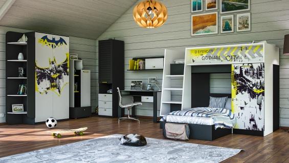 Kinderzimmer Jugendzimmer mit Etagenbett Batman 7-Teilig