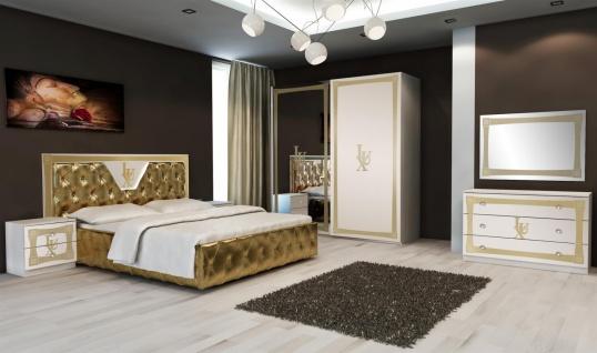 Uberlegen Schlafzimmer Lux In Weiss Gold Im Eleganten Design